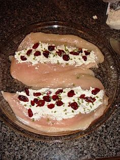 Goat Cheese and Cranberry Stuffed Chicken