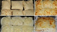 Zapečené palačinky s kuřecím masem a sýrem | NejRecept.cz Tummy Yummy, Mashed Potatoes, Chicken Recipes, Food And Drink, Low Carb, Lunch, Pizza, Cheese, Snacks