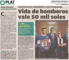 La Fiduciaria: Indemnización a Bomberos en el diario Ojo de Perú (26/10/16)