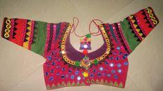 swarnagiri.kalam: Mirror work blouse