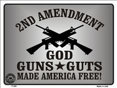 """Pro-2nd Amendment 9"""" x 12"""" High gloss metal parking sign. Made of the highest quality aluminum for a weather resistant finish. It is lightweight & durable. Pre-drilled holes for quick and easy mountin"""