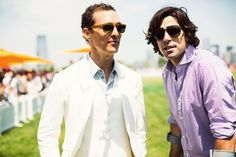 Matthew McConaughey still looking a bit gaunt here with Ignacio Figueras, but these gents look great! Veuve Clicquot Polo Classica, 2013