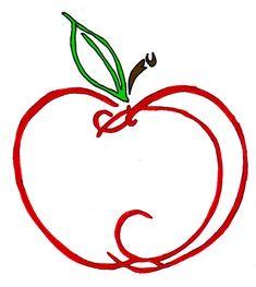 Apple Tattoo by on DeviantArt Small Tattoos, Cool Tattoos, Tatoos, Mini Tattoos, Teacher Tattoos, Apple Outline, Peace Sign Tattoos, Apple Tattoo, Scribble