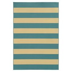 Indoor/Outdoor Rugby Stripe Rug