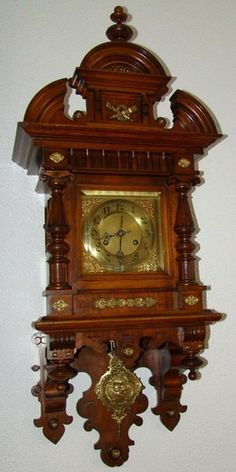 Hand carved German wall Clock ITs ABOUT TIME Pinterest