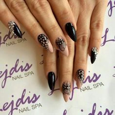 SPN UV LaQ 580 Fedora & 503 Black Tulip. Nails by Lejdis NailSpa #paznokcie #nails #mehndi
