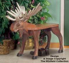 Moose Bench Wood Plan