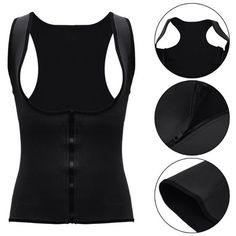 1c3f57ec23e Firm Control Neoprene Waist Trainer Vest Black And Blue Women Zipper Cincher  Shirt Sport Slimming Shapewear Bodysuit Sexy Corsets And Bustiers Shaper  Girdle ...