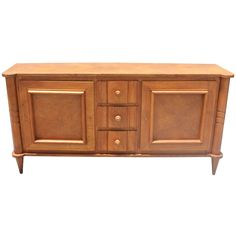Beautiful French Art Deco Oak Buffet, circa 1940s   From a unique collection of antique and modern buffets at https://www.1stdibs.com/furniture/storage-case-pieces/buffets/