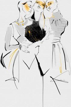 These illustrations were inspired by 2016 Fashion Week. I illustrate on Wacom Cintiq tablet using custom pencils and brushes on textured paper.
