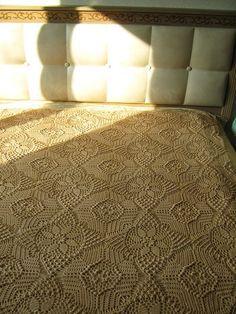 Lindíssima ideia de colcha de cama, modelo da net.            Grafico
