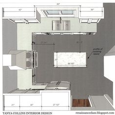 Image result for small u-shaped kitchen with island