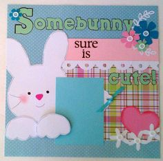 BabyEasterToddlerBunny premade scrapbook layout by ohioscrapper, $15.00