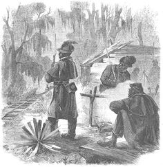 """""""Pickets of the First Louisiana 'Native Guard' Guarding the New Orleans and the Great Western Railroad,"""" Frank Leslie's Illustrated Newspaper, March 7, 1863."""