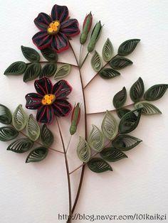 Image result for quilling california poppy flower