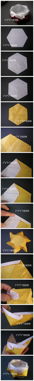 Origami dish. Photo diagrams.