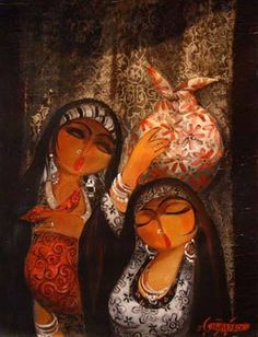 Shakir Al-Alousi (Iraqi artist) Arabian Art, Painter Artist, Egyptian Art, Whimsical Art, Colour Schemes, Cairo, Female Art, Middle East, Art Pictures