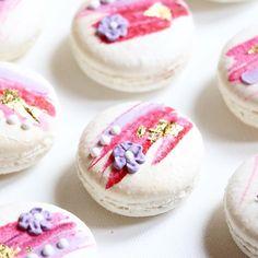 Strawberry Macarons {{ nutmeg & honeybee }}