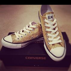 Gold Converse.. To wear with my wedding dress ;)