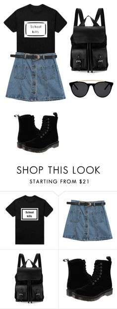 """Very Simple"" by dandifbr on Polyvore featuring Chicnova Fashion, Aspinal of London, Dr. Martens and Smoke & Mirrors"