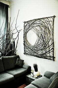 Art wood branches www.daniellecarignan.ca