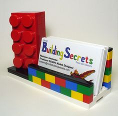 21 Unique Ways To Show Off Your Business Cards - DesignM.ag Lego Card Holder