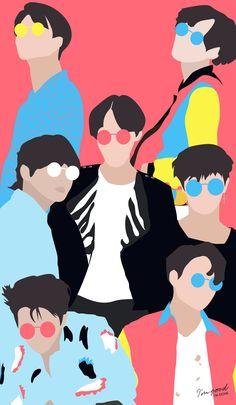BTS - FAKE LOVE wallpaper lockscreen kpop Bangtan Love Yourself Tear