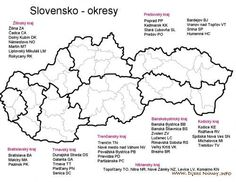 Okresy SR Travel And Tourism, Activities For Kids, Teacher, Education, Google, Maps, Geography, January, Voyage
