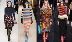 Candy-Colored Stripes Stole the Show on Day 2 of Milan Fashion Week. Fall is looking to be one sweet season — sartorially, at least.