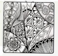 Love Light and Peace: Tangles in strings and zendalas.... String 23