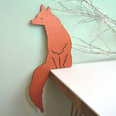 copper fox shelf corner decoration by oakdene designs | notonthehighstreet.com