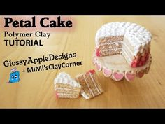 Miniature Polymer Clay Pink Ombre Petal Cake Tutorial | COLLAB with MiMi'sClayCorner - YouTube