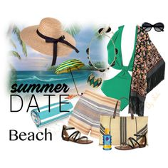 Summer Date: The Beach - Sensual Elegance by selene-cinzia on Polyvore featuring Solid & Striped, Sam Edelman, The Beach People, Chloe + Isabel, Lili Palouli, Nivea, Linum Home Textiles, beach and summerdate