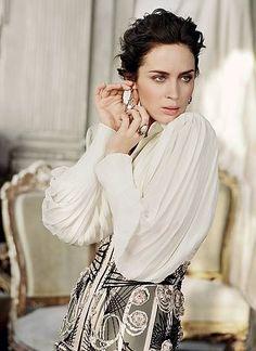 Modern Muses - Inspired by Marie Antoinette - SHINING TRENDS Emily Blunt in Vanity Fair