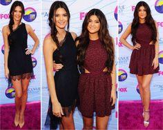 Vamos nos encaminhando pros finalmentes do live do TCA, mas antes, duas representantes do klã-kardashian, as little Jenner! Kendall e Kylie estavam meio basiquinhas, já vi as duas mais caprichadas. Certeza que isso foi compra da Forever 21, não tá com cara de red carpet, tá com cara de vida real, de vestido pra jantar …