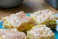 Apfel-Puddingschnitten