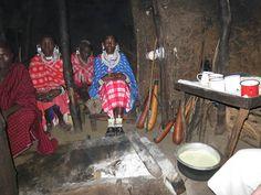 interior of Maasai house