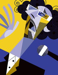 Illustration by Pablo Lobato Music Illustration, Graphic Illustration, Graphic Art, Art Pop, Arte Pink Floyd, Geometric Shapes Art, Karla Gerard, Art Optical, Pablo Picasso