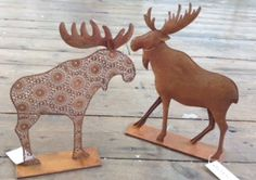 Rusty Christmas moose - Rusty Moose : Unique one-off Gift ideas at The Steel Rooms Gift Shop