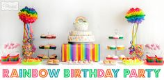 Rainbow Birthday Party Ideas from The Organised Housewife