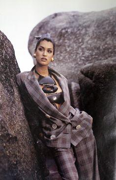 Yasmeen Ghauri for 1993 Ferre - Donna