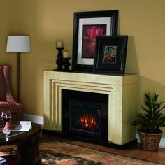 "A beautiful Classic Flame Ranier with 23"" electric fireplace firebox"