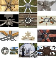 Dome Hub Connector Index Geodesic Hub Connector Systems GalleryGeodesic Hub Connector Systems Gallery Geodesic Dome Greenhouse, Geodesic Dome Homes, Veranda Pergola, Dome Structure, Dome House, Earthship, Diy And Crafts, Projects To Try, Hobbit Houses