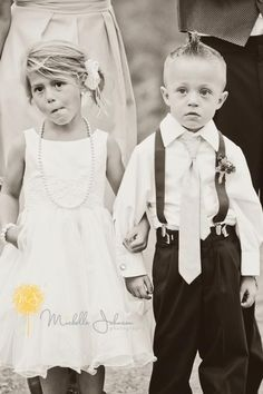 Our adorable flower girl and ring bearer!