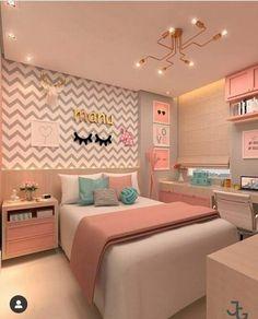 Girl bedroom designs - 168 cute teenage girl bedroom ideas 15 Hometwit com Home Room Design, Room Makeover, Room Design, Bedroom Makeover, Stylish Bedroom, Bedroom Decor, Teenage Girl Bedroom Decor, Aesthetic Bedroom, Dream Rooms