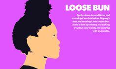 image of a loose bun
