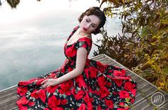 Red floral dress - Lena Hoschek collection