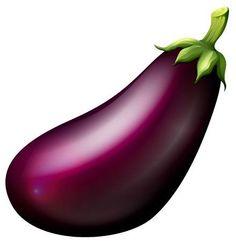Purple eggplant on white illustration Fruit And Veg, Fruits And Veggies, Vegetables, Vegetable Crafts, Vegetable Drawing, Vegetable Pictures, Value In Art, Name Wallpaper, Art Corner