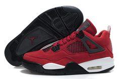 new styles ccc16 c9122 Air Jordan 4 Retro Suede Red Black White. HiJordan.com