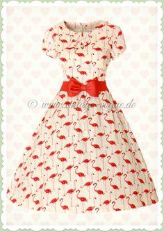 dd13ec492d5352 Lindy Bop 50er Jahre Rockabilly Petticoat Flamingo Kleid - Clarissa - Rosa